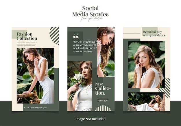Nowoczesne i eleganckie streszczenie do historii sprzedaży mody w mediach społecznościowych lub szablonu postu na instagram