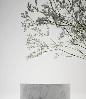 Nowoczesne proste geometryczne podium do renderowania 3d produktu