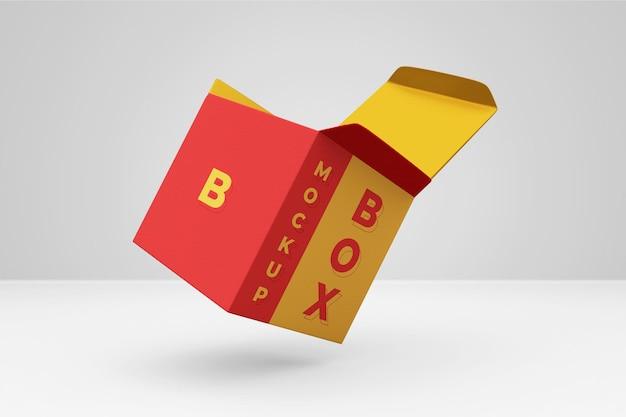 Nowoczesne pudełko makieta renderowania 3d