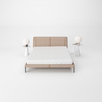 Nowoczesne wnętrza sypialni na białym tle