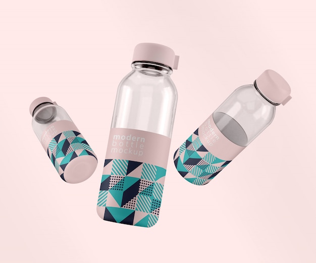 Nowoczesne wzornictwo trzech butelek