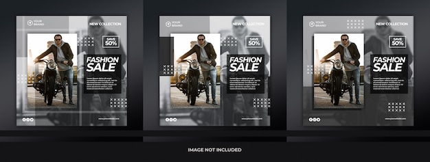 Nowoczesny czarny moda sprzedaż transparent