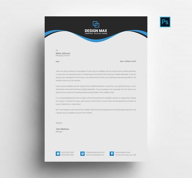 Nowoczesny design papieru firmowego