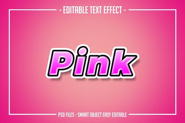 Nowoczesny efekt czcionki edytowalny w stylu różowego tekstu
