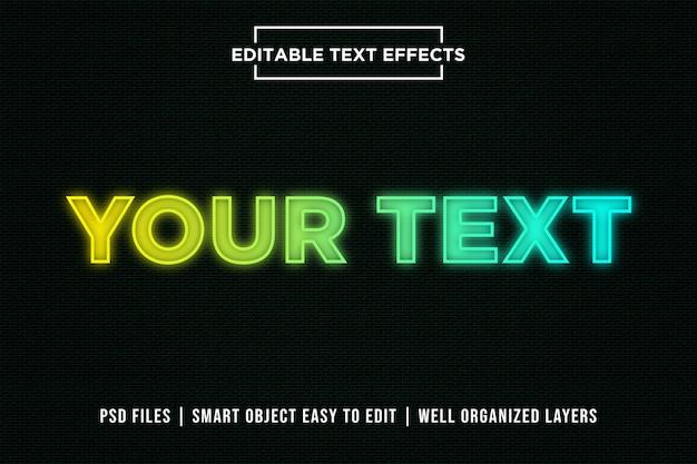 Nowoczesny efekt gradientu tekstowego premium psd