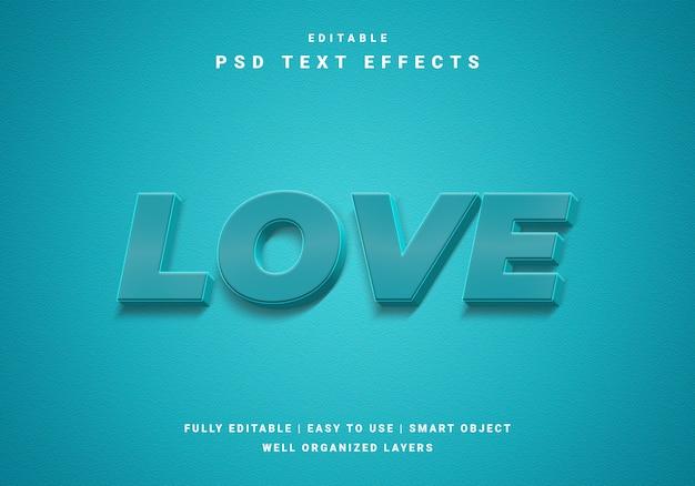 Nowoczesny efekt tekstowy miłości