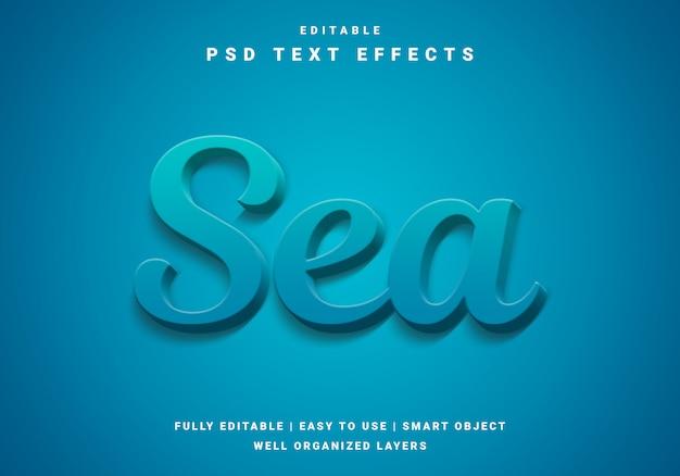 Nowoczesny efekt tekstu morskiego 3d