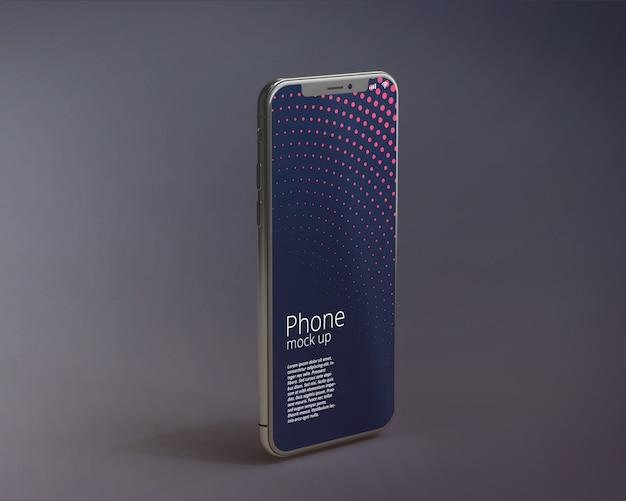 Nowoczesny ekran smartphone makieta