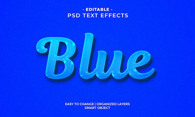 Nowoczesny kolorowy efekt niebieskiego tekstu