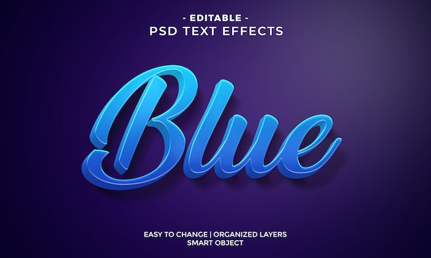 Nowoczesny kolorowy efekt tekstowy cool blue