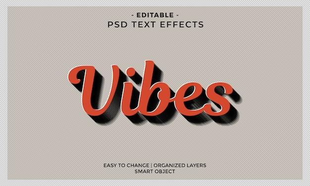 Nowoczesny kolorowy efekt tekstowy cool vibes