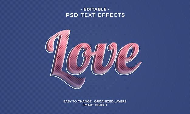 Nowoczesny kolorowy efekt tekstowy glossy love