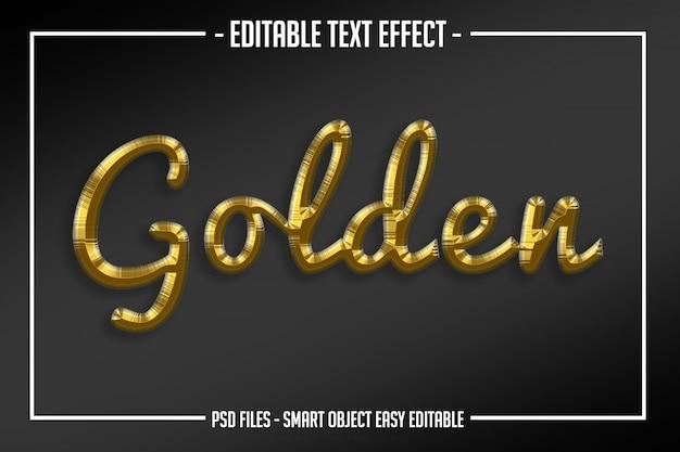 Nowoczesny luksus złoty styl tekstu edytowalny efekt skryptu