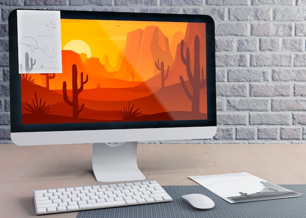 Nowoczesny monitor do pracy na biurku