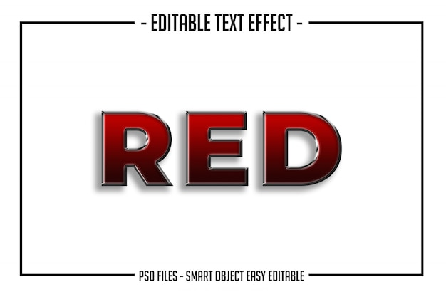 Nowoczesny pogrubiony czerwony efekt błyszczący styl czcionki