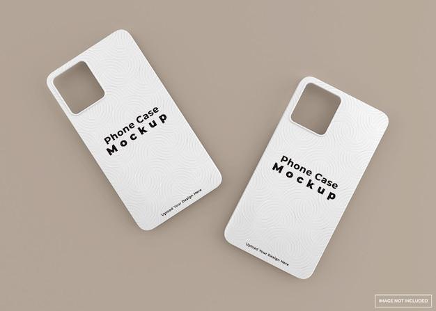 Nowoczesny projekt makiety obudowy telefonu w renderowaniu 3d na białym tle