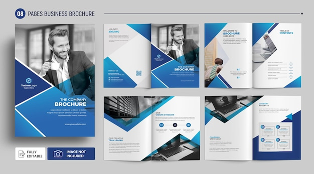 Nowoczesny projekt szablonu broszury biznesowej profilu firmy