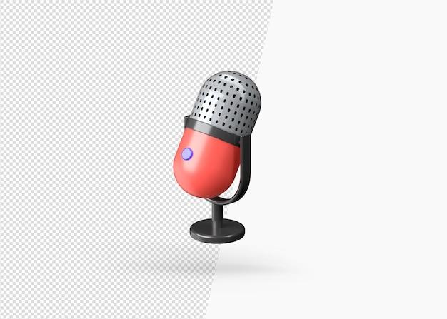 Nowoczesny Realistyczny Model Mikrofonu Z Renderowaniem 3d Premium Psd