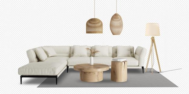 Nowoczesny salon z sofą i dekoracją