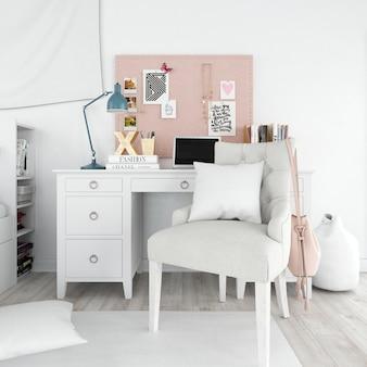 Nowoczesny styl wnętrza pokoju