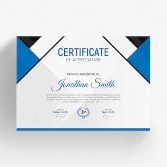Nowoczesny szablon certyfikatu