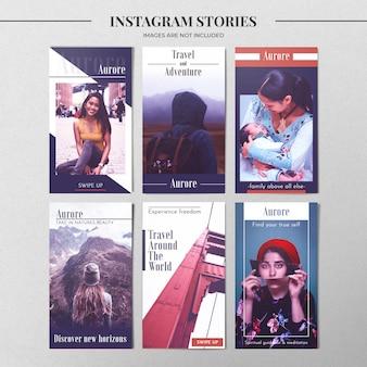 Nowoczesny szablon historii na instagramie