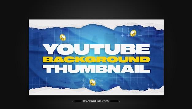 Nowoczesny Szablon Projektu Miniatury Tła Youtube Premium Psd