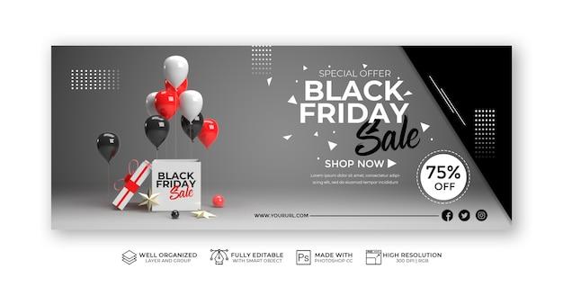 Nowoczesny szablon transparent sprzedaż czarny piątek