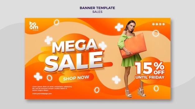 Nowoczesny szablon transparentu sprzedaży