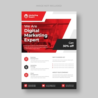 Nowoczesny szablon ulotki agencji marketingu cyfrowego