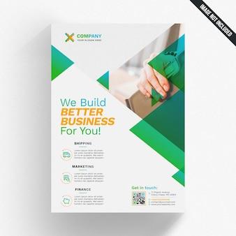 Nowoczesny, zielony biznes broszura makieta