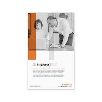 Nowożytny biznesowy sztandaru szablon z wizerunkiem