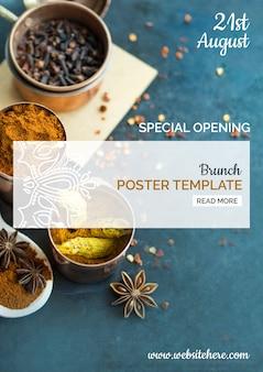 Nowożytny indyjski karmowy plakatowy szablon