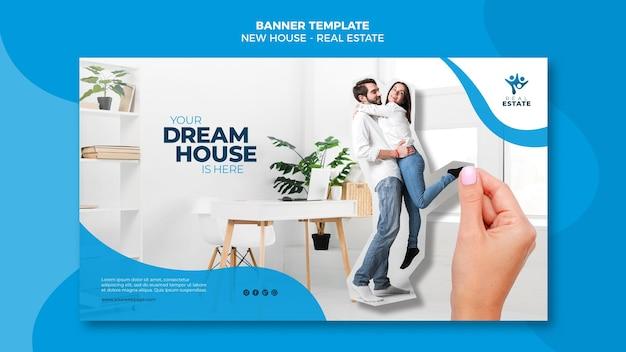 Nowy baner nieruchomości domu