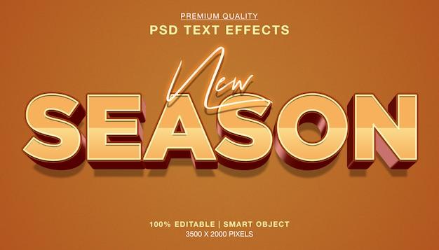 Nowy efekt edytowalnego stylu tekstu sezonu