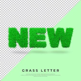 Nowy list z trawą w blenderze