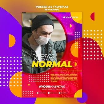 Nowy normalny projekt plakatu