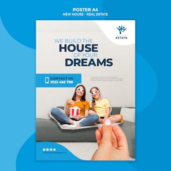 Nowy plakat nieruchomości domu