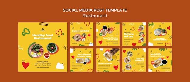 Nowy post w mediach społecznościowych w menu