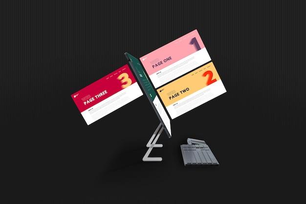 Nowy projekt makiety ekranu komputera stacjonarnego