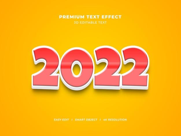 Nowy rok edytowalny efekt tekstowy z gradientem