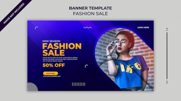 Nowy sezon moda sprzedaż baner internetowy lub szablon transparent instagram
