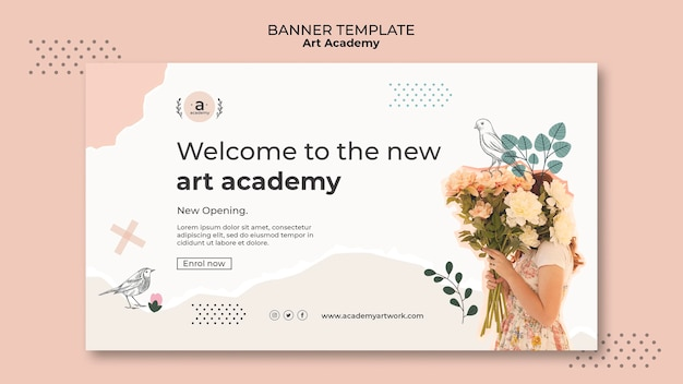 Nowy szablon banera akademii sztuki
