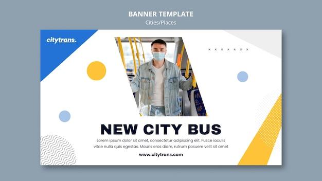 Nowy szablon banera autobusu miejskiego