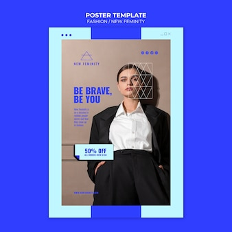 Nowy szablon druku mody kobiecości