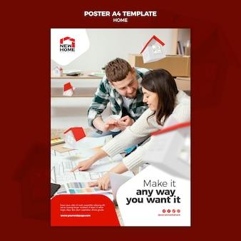Nowy szablon plakatu do domu