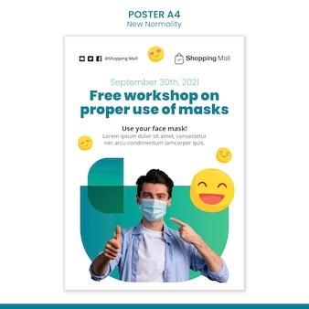 Nowy szablon projektu plakatu normalności