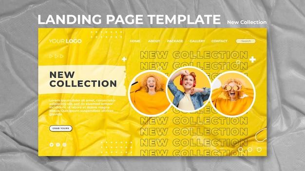 Nowy szablon strony docelowej koncepcji kolekcji