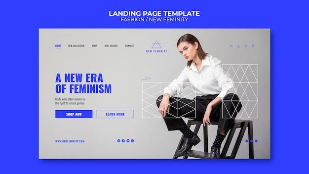 Nowy szablon strony docelowej mody kobiecości