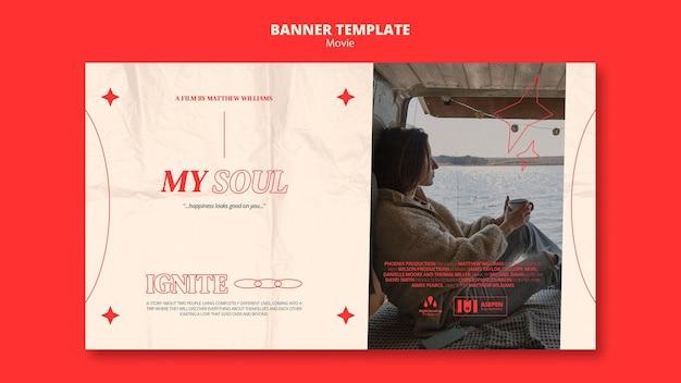 Nowy szablon transparentu filmowego